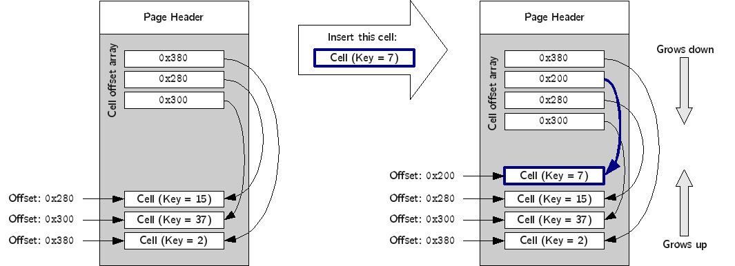 Example of a cell insertion.